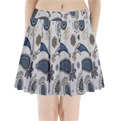 Pattern Embroidery Fabric Sew Pleated Mini Skirt