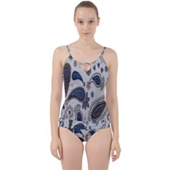 Pattern Embroidery Fabric Sew Cut Out Top Tankini Set