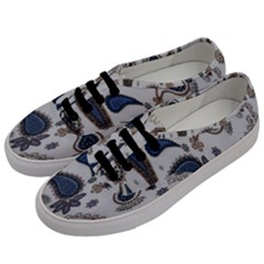 Pattern Embroidery Fabric Sew Men s Classic Low Top Sneakers by Celenk