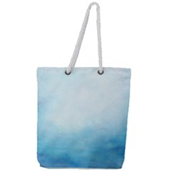 Ombre Full Print Rope Handle Tote (large) by ValentinaDesign