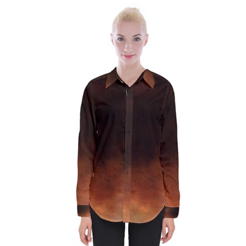 Ombre Womens Long Sleeve Shirt by ValentinaDesign