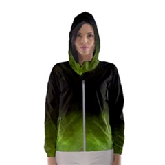 Ombre Hooded Wind Breaker (women) by ValentinaDesign