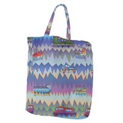 Zig Zag Boats Giant Grocery Zipper Tote by CosmicEsoteric