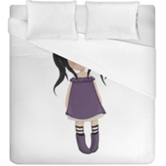 Dolly Girl In Purple Duvet Cover (king Size)