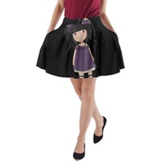 Dolly Girl In Purple A Line Pocket Skirt by Valentinaart