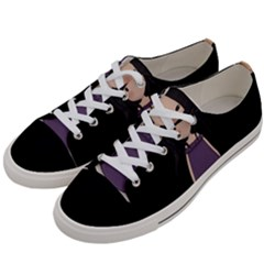 Dolly Girl In Purple Women s Low Top Canvas Sneakers by Valentinaart