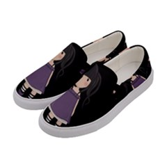 Dolly Girl In Purple Women s Canvas Slip Ons by Valentinaart