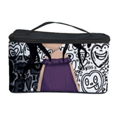 Dolly Girl In Purple Cosmetic Storage Case by Valentinaart