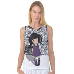 Dolly Girl In Purple Women s Basketball Tank Top by Valentinaart