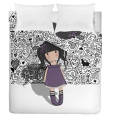 Dolly Girl In Purple Duvet Cover Double Side (queen Size)