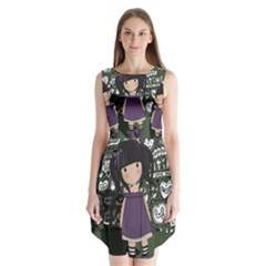 Dolly Girl In Purple Sleeveless Chiffon Dress   by Valentinaart