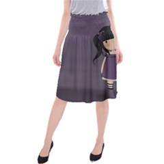 Dolly Girl In Purple Midi Beach Skirt