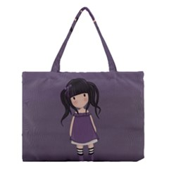 Dolly Girl In Purple Medium Tote Bag by Valentinaart