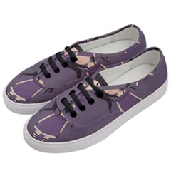Dolly Girl In Purple Women s Classic Low Top Sneakers by Valentinaart