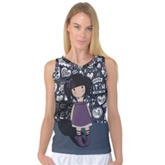 Dolly Girl In Purple Women s Basketball Tank Top