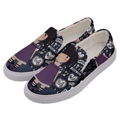 Dolly Girl In Purple Men s Canvas Slip Ons by Valentinaart