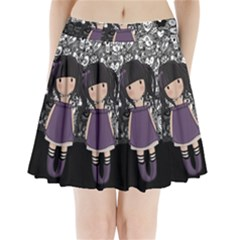Dolly Girl In Purple Pleated Mini Skirt
