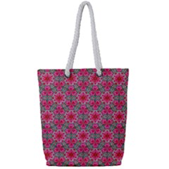 Diamond Star Full Print Rope Handle Tote (small) by Cveti