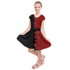 Canada Maple Leaf  Kids  Short Sleeve Dress by CanadaSouvenirs