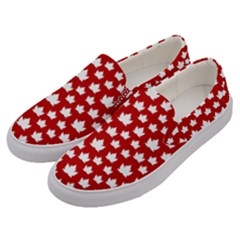 Cute Canada Shoes  Men s Canvas Slip Ons by CanadaSouvenirs