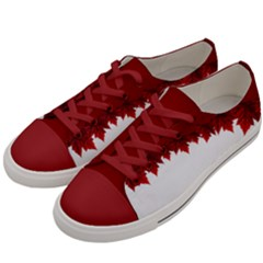 Canada Maple Leaf Shoes Men s Low Top Canvas Sneakers by CanadaSouvenirs