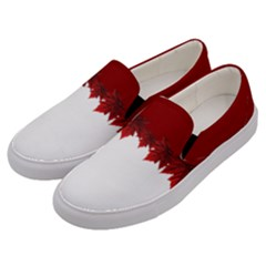 Canada Maple Leaf Shoes Men s Canvas Slip Ons by CanadaSouvenirs