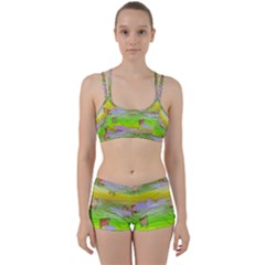 Cows And Clouds In The Green Fields Women s Sports Set