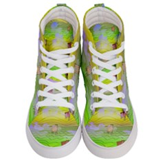 Cows And Clouds In The Green Fields Women s Hi Top Skate Sneakers