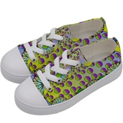 Amoeba Flowers Kids  Low Top Canvas Sneakers by CosmicEsoteric