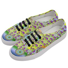 Amoeba Flowers Women s Classic Low Top Sneakers by CosmicEsoteric