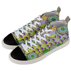 Amoeba Flowers Men s Mid Top Canvas Sneakers by CosmicEsoteric