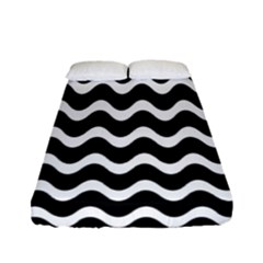 Wave Pattern Wavy Halftone Fitted Sheet (full/ Double Size)