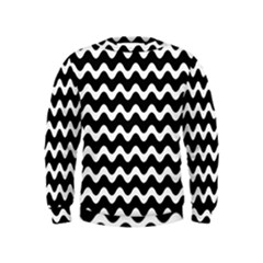Wave Pattern Wavy Halftone Kids  Sweatshirt