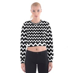 Wave Pattern Wavy Halftone Cropped Sweatshirt by Celenk