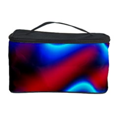 Wave Pattern Background Curve Cosmetic Storage Case by Celenk