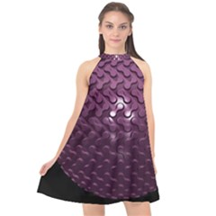 Sphere 3d Geometry Math Design Halter Neckline Chiffon Dress