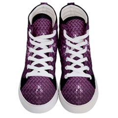 Sphere 3d Geometry Math Design Women s Hi Top Skate Sneakers