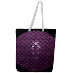 Sphere 3d Geometry Math Design Full Print Rope Handle Tote (large) by Celenk