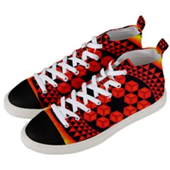 Geometry Maths Design Mathematical Men s Mid Top Canvas Sneakers by Celenk