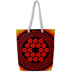 Geometry Maths Design Mathematical Full Print Rope Handle Tote (small) by Celenk