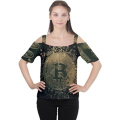 Bitcoin Cryptocurrency Blockchain Cutout Shoulder Tee