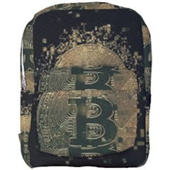 Bitcoin Cryptocurrency Blockchain Full Print Backpack by Celenk