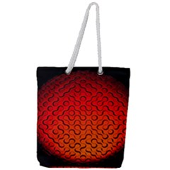 Sphere 3d Geometry Structure Full Print Rope Handle Tote (large) by Celenk