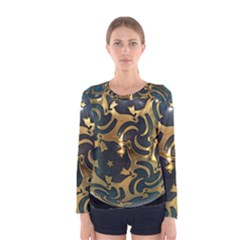 Sphere Orb Decoration 3d Women s Long Sleeve Tee