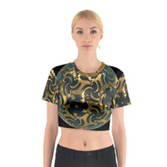 Sphere Orb Decoration 3d Cotton Crop Top