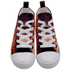 Sunset Dusk Silhouette Sky Birds Kid s Mid Top Canvas Sneakers