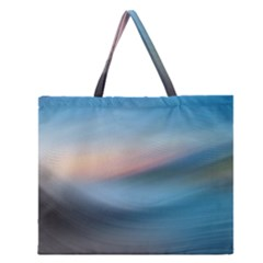 Wave Background Pattern Abstract Lines Light Zipper Large Tote Bag