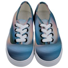 Wave Background Pattern Abstract Lines Light Kids  Classic Low Top Sneakers