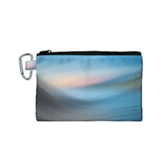 Wave Background Pattern Abstract Lines Light Canvas Cosmetic Bag (small) by Celenk