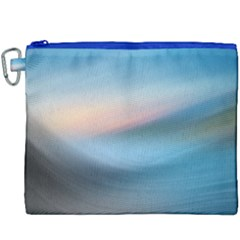 Wave Background Pattern Abstract Lines Light Canvas Cosmetic Bag (xxxl) by Celenk